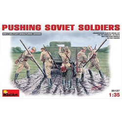 Pushing soviet soldiers