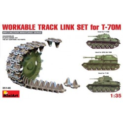 Workable track link set for T-70M light tank