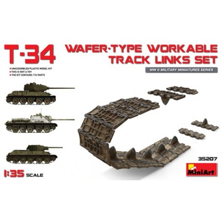 T-34 wafer-type. Workable track links set