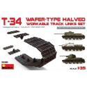 T-34 wafer-type halved.workable track links set