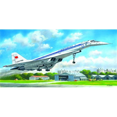 "Tupolev Tu-144D ""Charger"", Soviet Supersonic Passenger Aircraft"