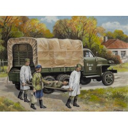 Studebaker US6 with Soviet Medical Personnel