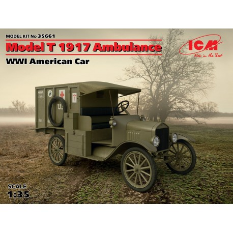 Model T 1917 Ambulance, WWI American Car