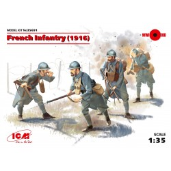 French Infantry (1916), 4 figures
