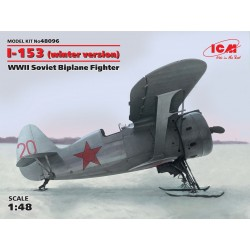 I-153, WWII Soviet Biplane Fighter (winter version)