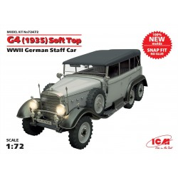 G4 (1935 production), WWII German Staff Car, snap fit/no glue