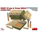 Soviet 57-mm and 76-mm shells w/ammo boxes