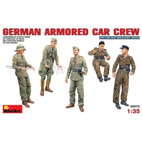 German armored car crew