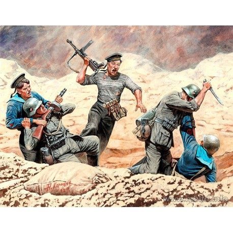 Soviet Marines and German Infantry, Hand-to-hand Combat, 1941-1942. Eastern Front Battle Series, Kit 2