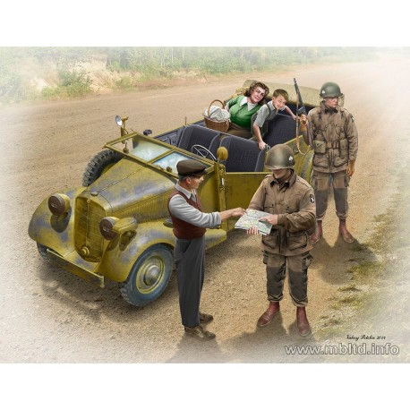 Hitching a ride, US Paratroopers and Civilians