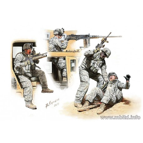 Man Down! US Modern Army, Middle East, Present day