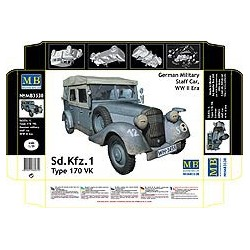 Sd. Kfz. 1 Type 170 VK, German Military Staff car, WW2 Era