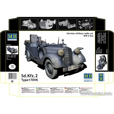 Sd. Kfz. 2 Type 170 VK, German military radio car, WW2 era