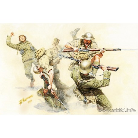 Hand-to-hand fight British and German Infantry, battles in Northern Africa, Kit 1