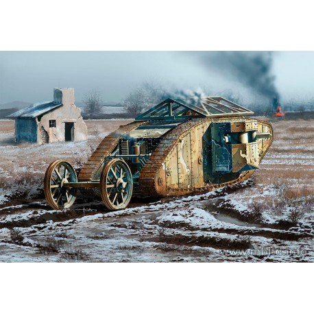 British Tank Mk I Male, Somme Battle period, 1916