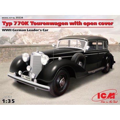 Typ 770K Tourenwagen with open cover, WWII German Leader's Car