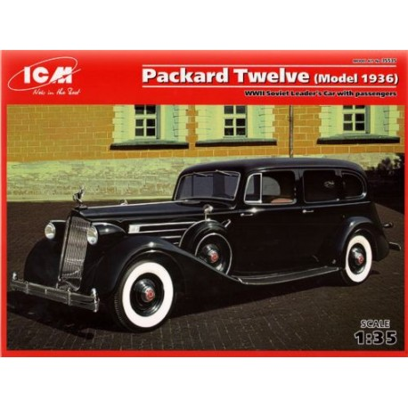 Packard Twelve (Model 1936), WWII Soviet Leader's Car with Passengers