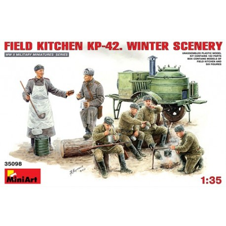 Field kitchen KP-42. Winter scenery