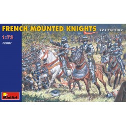 French mounted knights. XV century