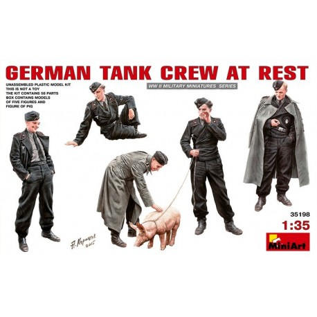German tank crew at rest