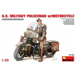 AU.S. military policeman w/motorcycle