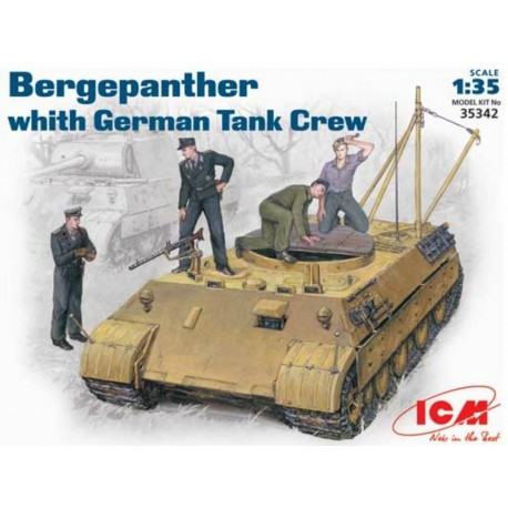 Bergepanther with German Tank Crew